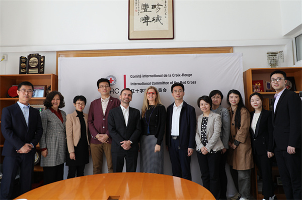 Su Dapeng meets with ICRC officials over personnel training
